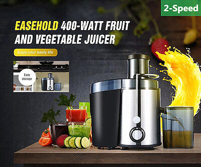 Stainless Steel Whole Fruit Dual Speed Juicer Vegetable Citrus Juice Extractor