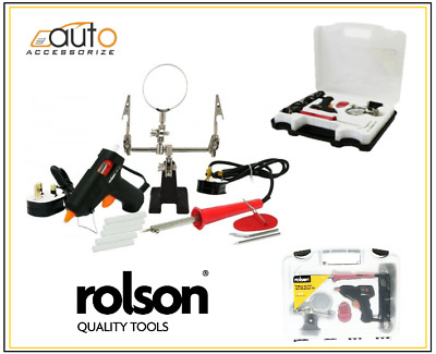 Rolson Soldering Iron  & Glue Kit with Helping Hand magnifier and 6 glue Sticks