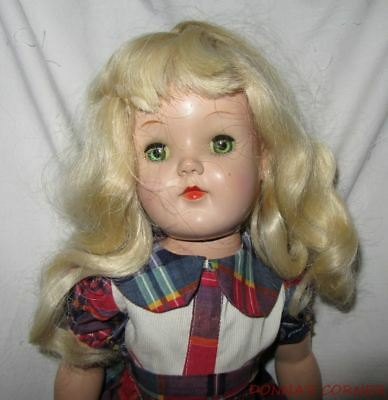 """Vintage P92 1950's Ideal 18"""" Toni Doll  ~ Restored, Restrung And Redressed"""