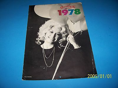 "1978 COUNTRY MUSIC CALENDER w/ DOLLY PARTON, MANDRELL, LORETTA  YNEE 14 "" X 31 """