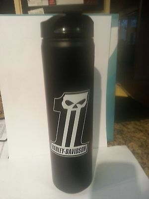 Harley-Davidson®  # 1 Skull Stainless 20 oz. Black Travel Mug