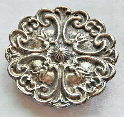 "2.25"" ROUND METAL STAINLESS STEEL LADIES BELT BUCKLE. Western, mandala design"