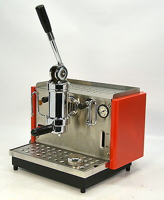 Bezzera Milano Lever-Operated Manual Piston Espresso Machine Daide Vintage RED!