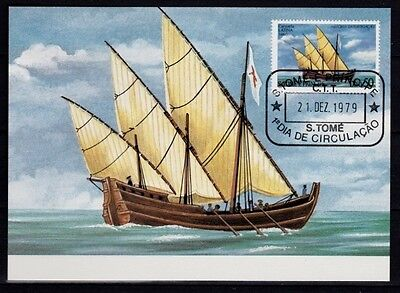 "Carte Maximum FDC - Sao Tomé 1979 - Bateaux Boats Caravelle "" Latina "" 1460"