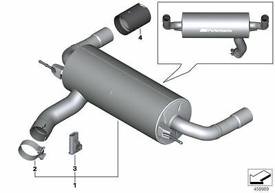 Genuine BMW M135i M140i M235i M240i M Performance Exhaust with Chrome Tailpipes
