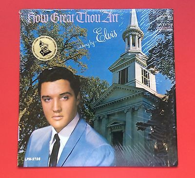 Elvis Presley- Original How Great Thou Art With Rare Grammy Sticker