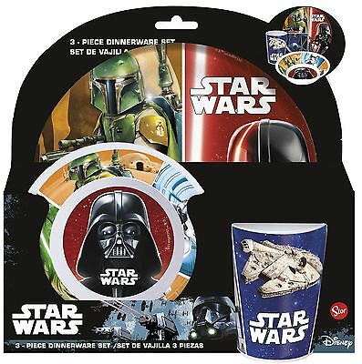 Star Wars Childrens 3 Piece Tumbler Bowl and Plate Set