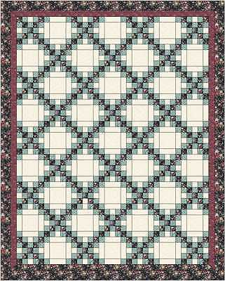 DOUBLE IRISH CHAIN QUILT TOP - Summer Garden - Not Quilted, Made in USA