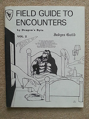 FIELD GUIDE TO ENCOUNTERS  ~ JUDGES GUILD ~ V.RARE 1982-MINT ALTERNATE Mon.Man.