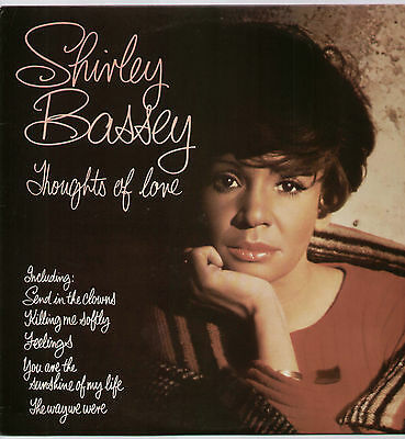 Shirley Bassey ~ Thoughts Of Love ~ 1976 Uk 12-Track Lp Record ~ Ua Uas 30011