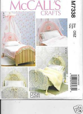 M7338 18 Inch Doll Beds/accessories New Sewing Pattern Mccalls 7338
