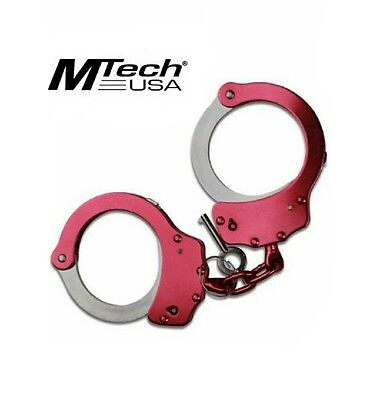 MTech USA MT-S4508 Series Double-Lock Handcuffs (PINK) USA SELLER/FREE SHIPPING