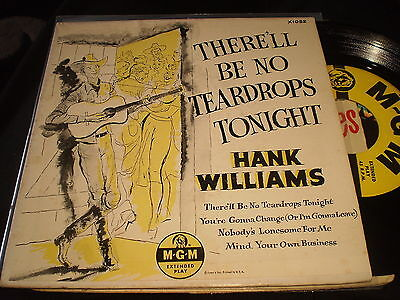 Hank Williams - Therell Be No Teardrops Tonight - Us Mgm Ep