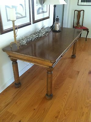 Victorian Antique Oak Library Table