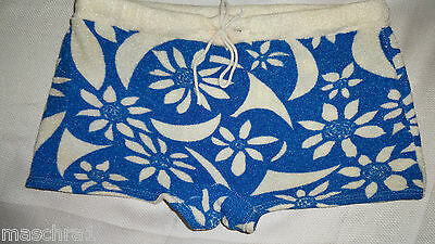 Badehose*  blau weiß *  Nylon Frottee* Vintage  70er /  Swim Shorts* Trousers