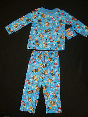 """PAW PATROL  BRUSHED  """"OH SO SOFT"""" 100% POLYESTER  2 piece PAJAMA SET NWTS"""