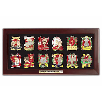 Liverpool History Down The Years Boxed Badge Set 12 Different Badges Brand New