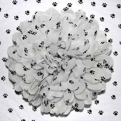White Paw Print Tissue Paper, Dog & Puppy Paper 17gsm 50x75cm 5 10 & 30 sheets