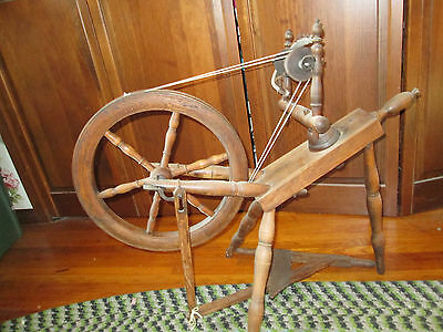 """Antique Spinning Wheel in Working Order Ready to Spin15"""" Wheel Local Pickup Only"""
