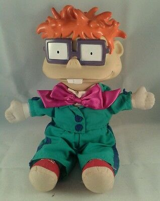 Rugrats In Paris The Movie Official Chuckie Doll With Vinyl Head 12 inches.