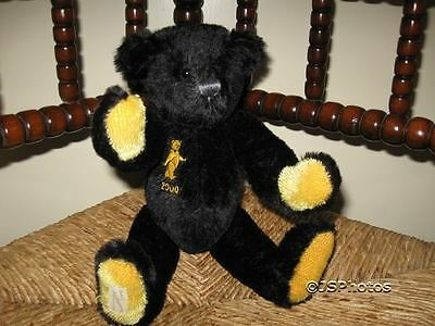 Deans Ragbook UK Black Mohair Nightfall Bear 2000