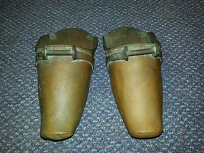 Antique copper/brass Conquistadors armor shoe stirrups horse equestrian