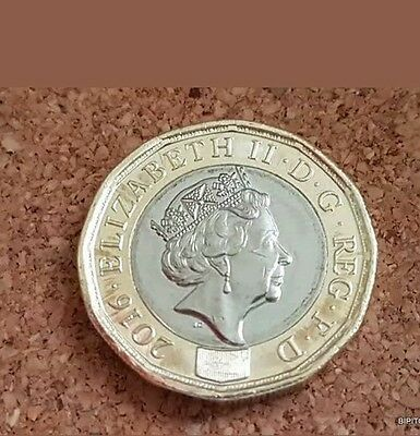 New One Pound Coin 12 Sided  - Flipped Error VERY RARE 2016.