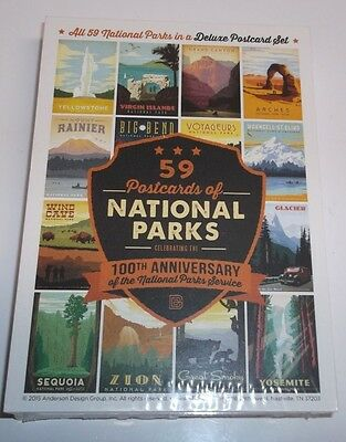 59 Postcards of National Parks: Celebrating the 100th Anderson Design Group