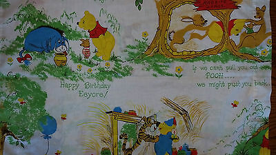 Pair Of Vintage Sears Winnie The Pooh And Friends Pillow Cases