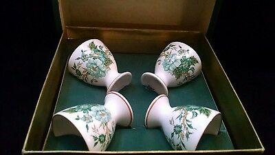Set of 4 Crown Staffordshire Kowloon Bone China Egg Cups