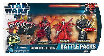 NISB Star Wars Action Figure Battle Packs DARTH  MAUL RETURNS Exclusive 2012
