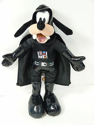 Goofy Star Wars Dressed as Darth Vader 12'' Plush Doll Toy Disney Parks VGUC
