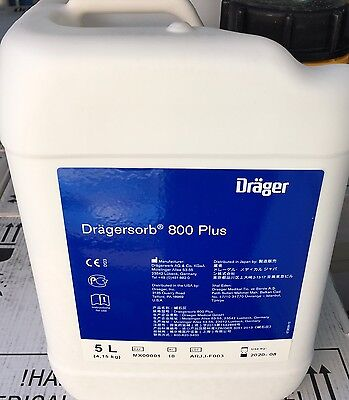 Drager MX00001 Dragersorb 800 Plus, Two (2) Pack, 5L each Containers, Exp 2020