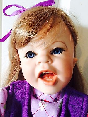 """29"""" Realistic PORCELAIN DONNA RUBERT Red HAIR BLUE EYED TODDLER Doll"""