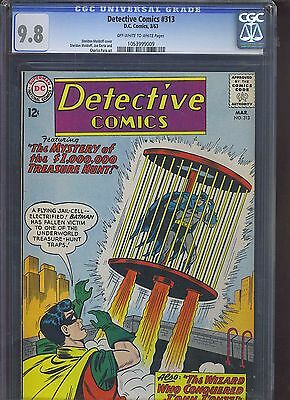 DETECTIVE #313 CGC NM/MT 9.8; OW-W; Highest Graded! Martian Manhunter (3/63)!