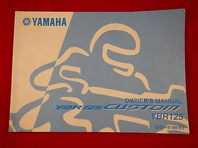 Genuine Yamaha Ybr125 Ybr 125 Custom Owners Manual 27S-F8199-E0 2008 2009