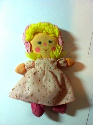 Dolls Vtg Plush One Side Smile Other Sad Womens With Dress