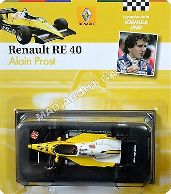RENAULT RE40 ALAIN PROST #15 1:43 Scale F1 Racing Car Model Formula One