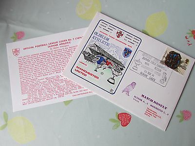 OLDHAM Division 3 Champions v MANCHESTER United 1974 FOOTBALL First Day Cover