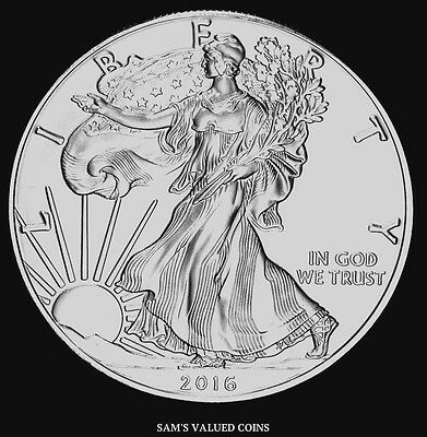 2016 $1 American Silver Eagle Uncirculated Coin - 1 OZ Silver