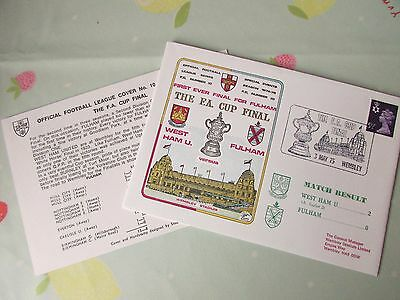 WEST Ham United v FULHAM FA Cup Final 1975 Wembley FOOTBALL First Day Cover