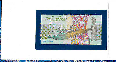 *Banknotes of All Nations Cook Islands 1987 3 Dollars P 3 UNC AAA 008206 Low #
