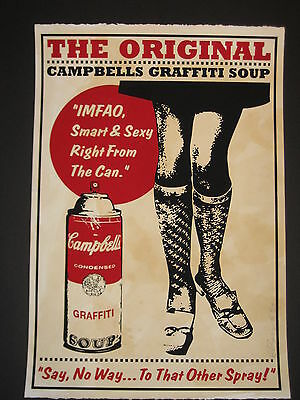 """Rene Gagnon / """"campbells graffiti soup"""" 2010 signed and numbered 6/25"""