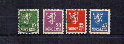 Norway 1925 Annexation Of Spitzbergen Set ( 4 ) Fine Used Cat £27
