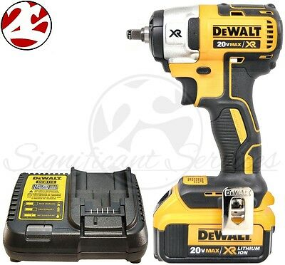 "DeWALT DCF890 20V MAX 4.0 Lithium Ion 3/8"" Brushless Compact Impact Wrench Kit"