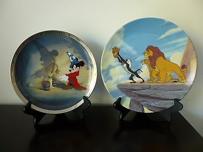 Walt Disney Collectible Plates,Fantasia,THE LION KING,1994 -1995,limited edition