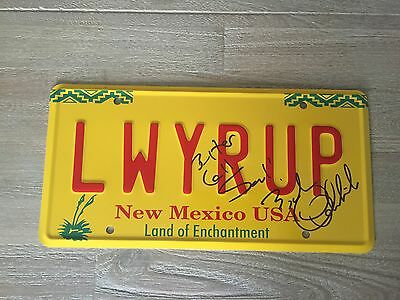 Bob Odenkirk Signed Better Call Saul Breaking Bad License Number Plate Autograph