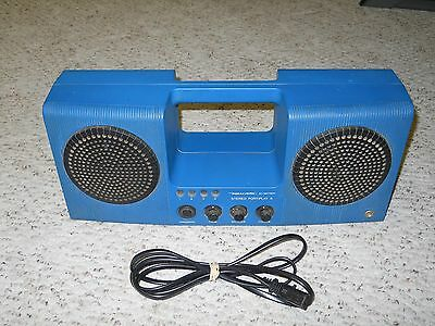 Blue Vintage Rare Realistic Portiplay Model 14-918 8-Track Boombox Speaker