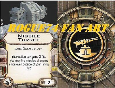 Custom X-Wing miniaturs Fan Art Upgrade Card:  Missile Turret