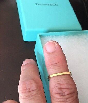 Tiffany & Co. Frank Gehry 18K Yellow  Gold Torque Square Micro Band Ring